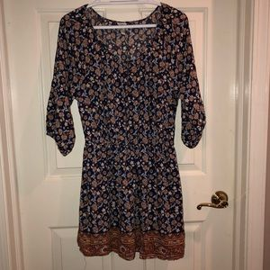 Forever 21 boho peasant dress